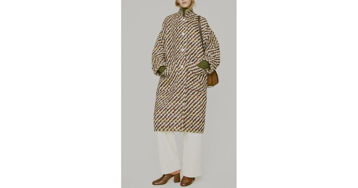 Trademark Axis Wool Oversized Tweed Coat | Lyst