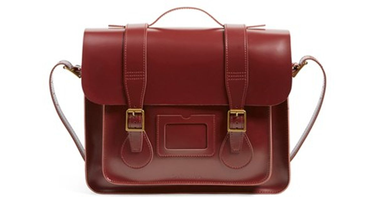 1208fa7a7d4 Dr. Martens 15 Inch Leather Satchel in Red - Lyst