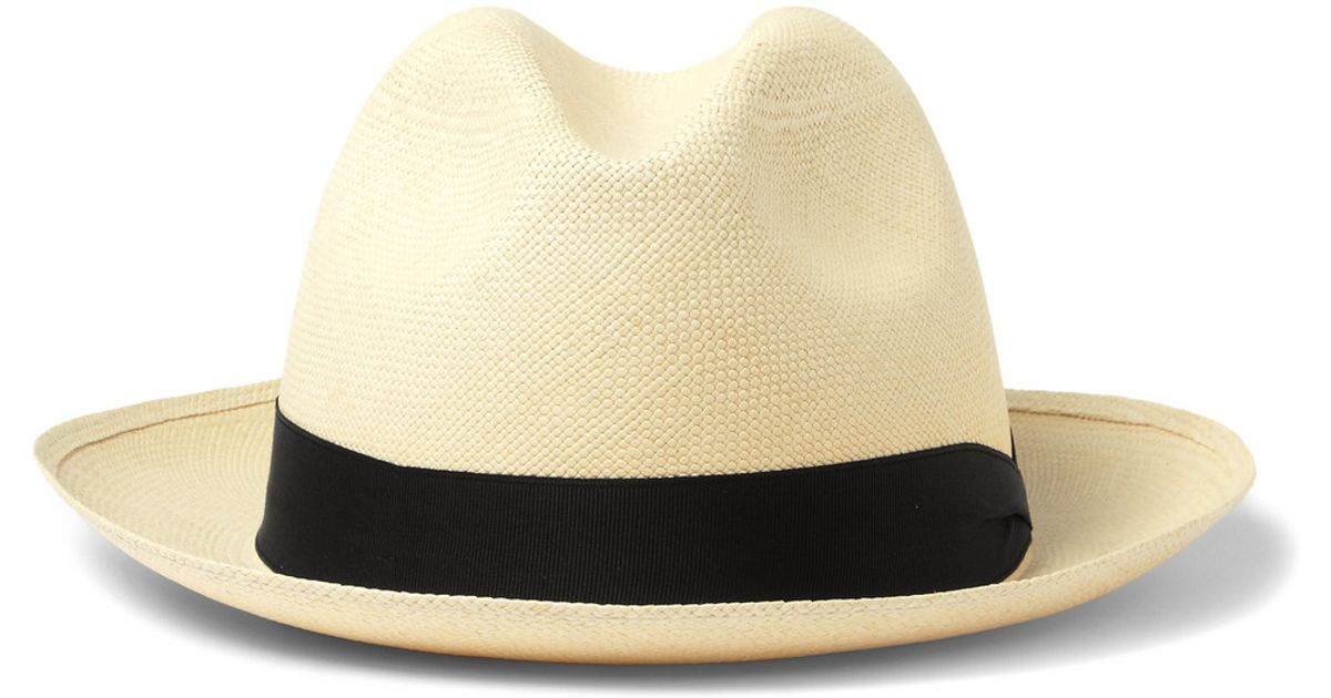 6b62bd16c94 Lyst - Lock   Co. Straw Panama Hat in White for Men
