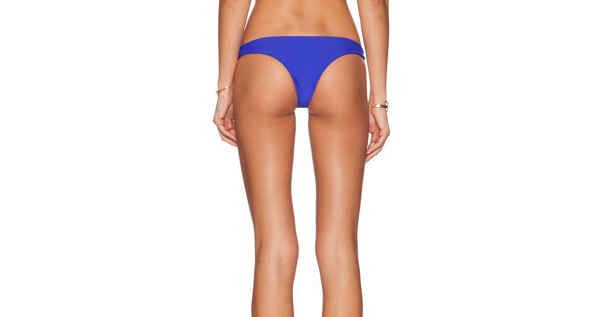 170e9584c57f7 Lyst - Mikoh Swimwear Lahaina Extra Skimpy Bikini Bottoms in Blue