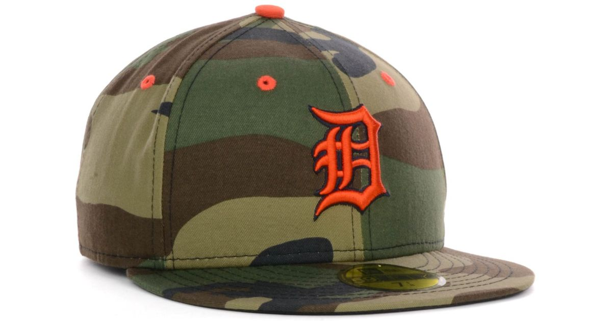 Lyst - KTZ Detroit Tigers Mlb Camo Pop 59Fifty Cap in Green for Men 36283e4902b8