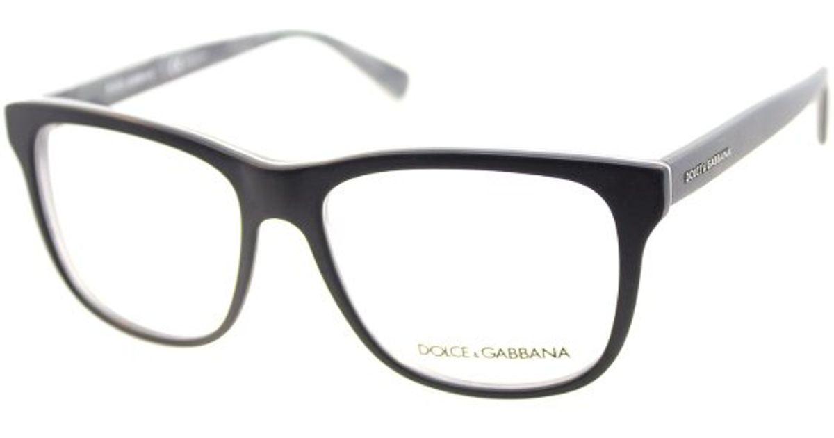 86e7230f719 Lyst - Dolce   Gabbana Dg3206 2803 Top Black On Matte Mimetic Square Plastic  Eyeglasses-54Mm in Black