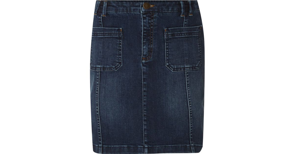 white stuff sandhurst denim skirt in blue lyst