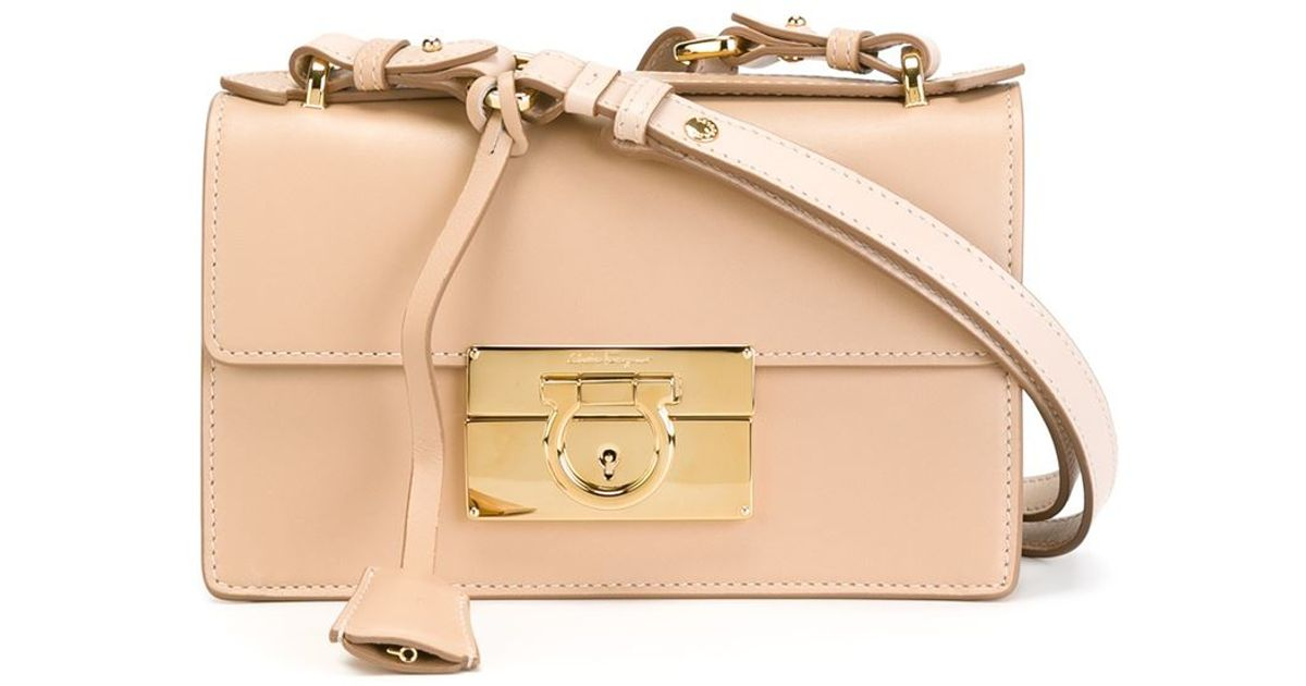 Ferragamo  aileen  Shoulder Bag in Natural - Lyst fd03dce7bd644