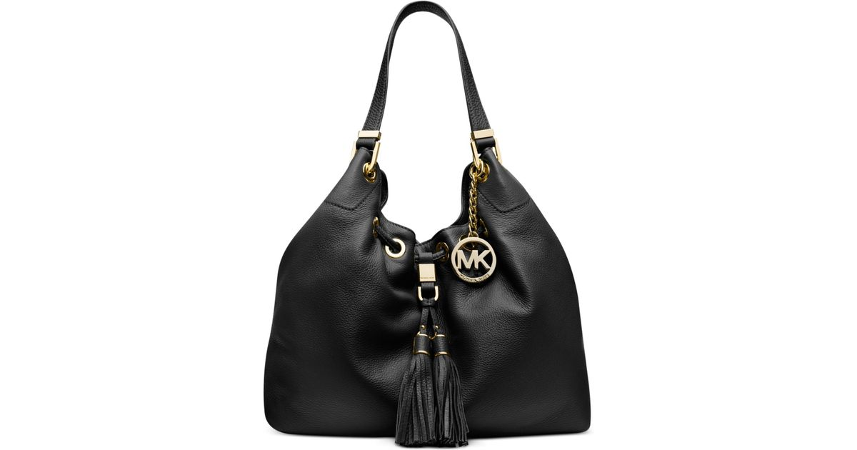 Michael kors Michael Camden Large Drawstring Shoulder Tote in Black | Lyst