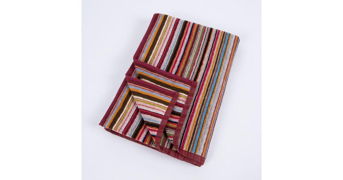 Paul smith striped beach towel for men lyst