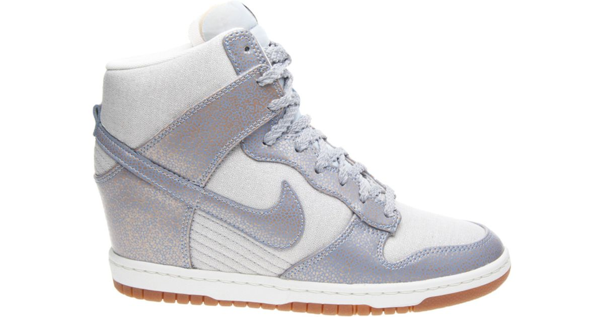 9a7dadeed1e8 ... wholesale lyst nike dunk sky hi vintage in metallic 6e18e 706d9