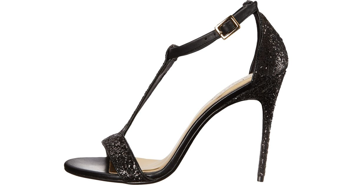 de910133d37a Lyst - Ted Baker Pwimwrose 2 Crystal T Bar Heeled Sandals in Black
