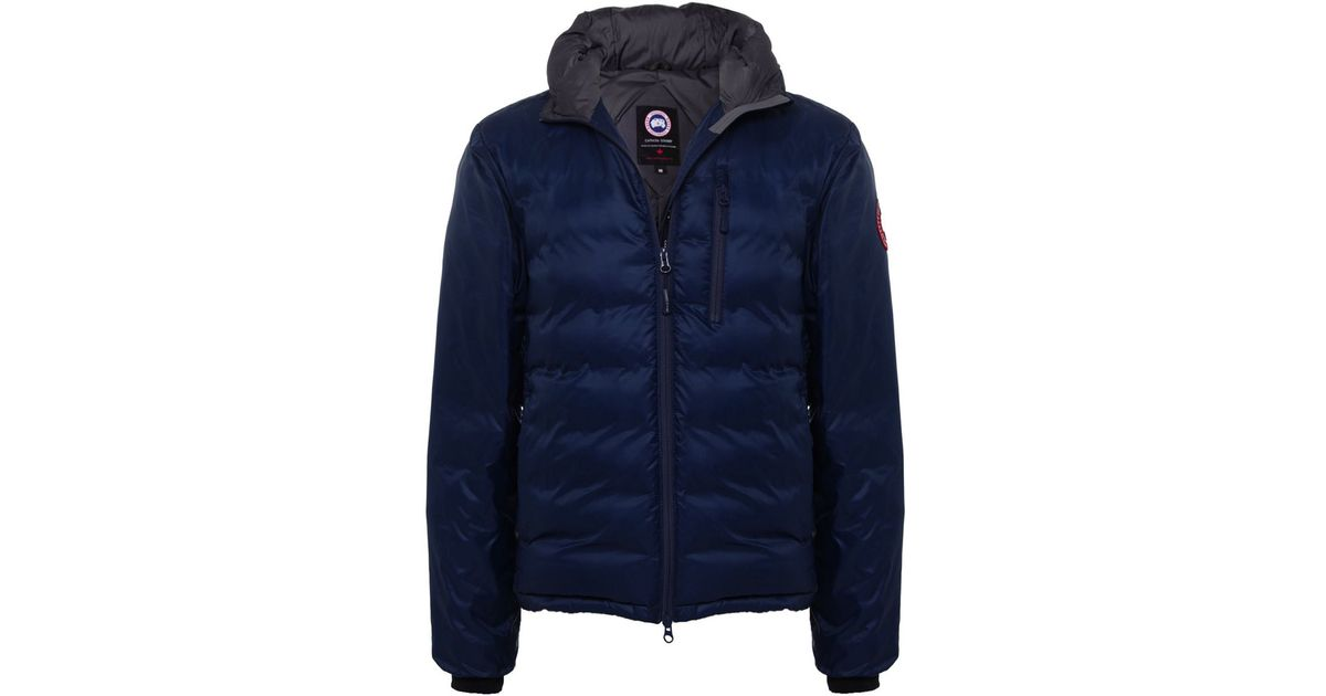 Canada Goose mens online discounts - Canada goose Lodge Hooded Puffa Jacket in Blue for Men (SPIRIT) | Lyst