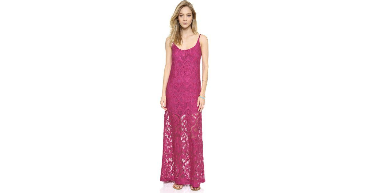 Lyst - Nightcap Crochet Day Gown - Fuschia in Pink