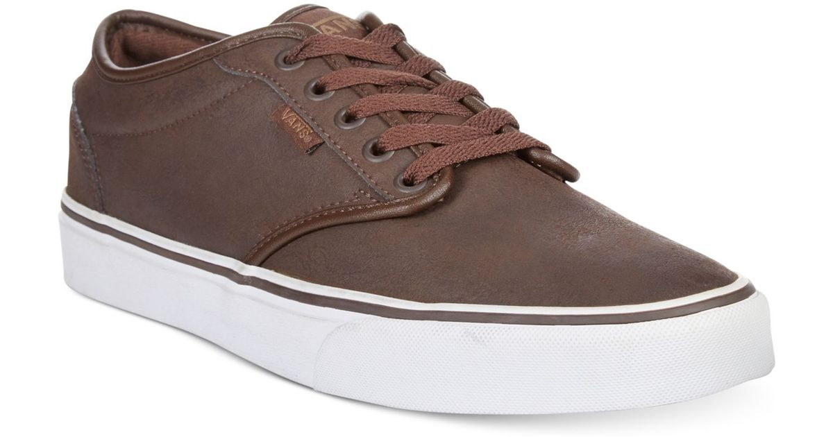 c24e37940554 Lyst - Vans Atwood Buck Leather Sneakers in Brown for Men