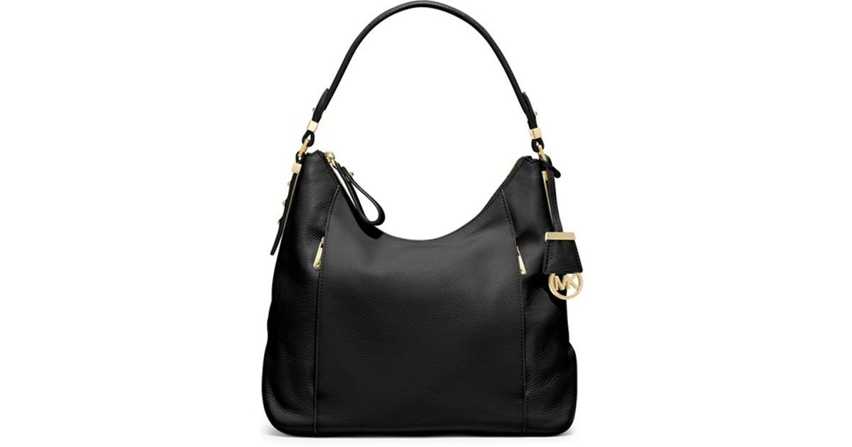 2a0f3970d3e05c michael kors pebbled leather shoulder bag Easy Free Style Spring Street Snap