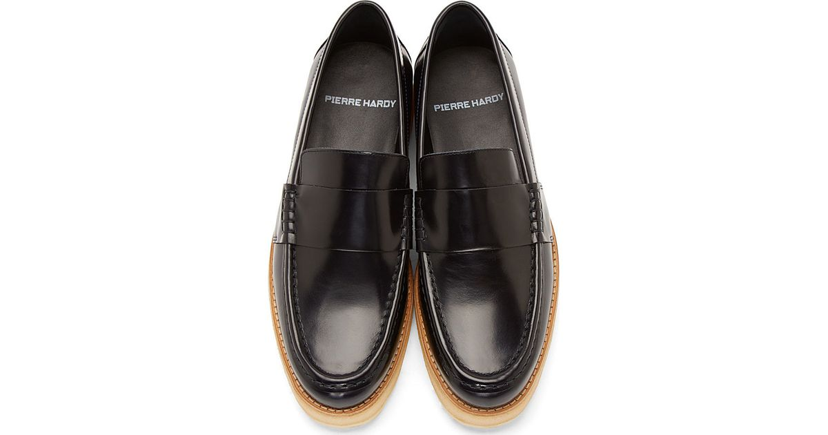 Lyst - Pierre Hardy Navy Leather Penny Loafers in Blue for Men