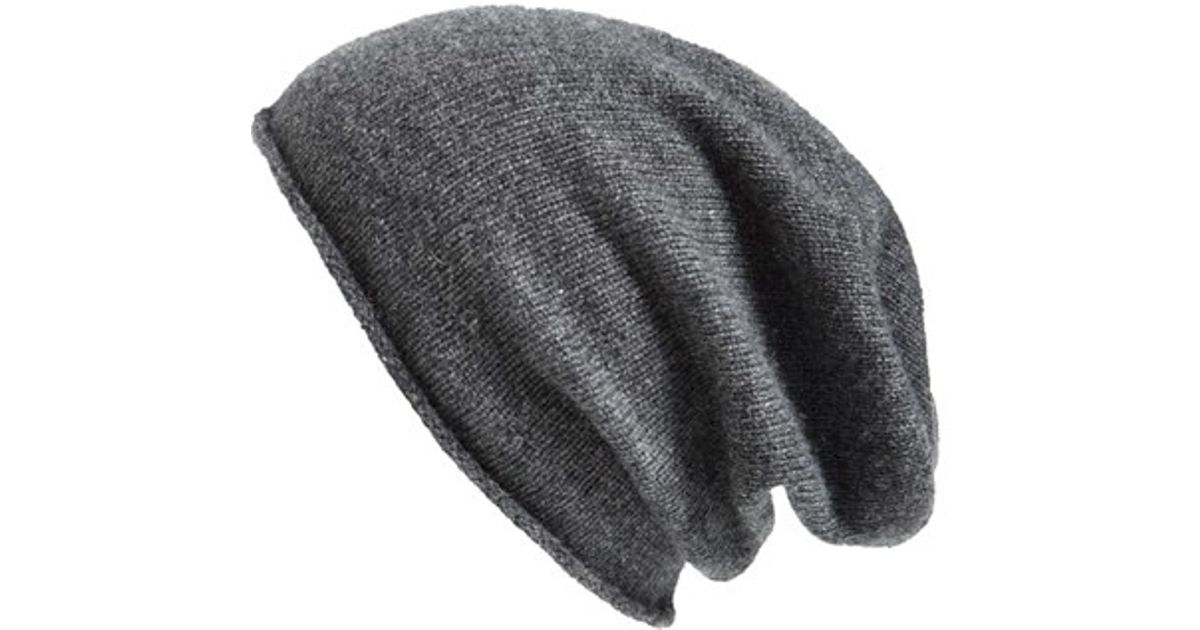 37c8a1fa55a Lyst - Halogen Slouchy Cashmere Beanie in Gray