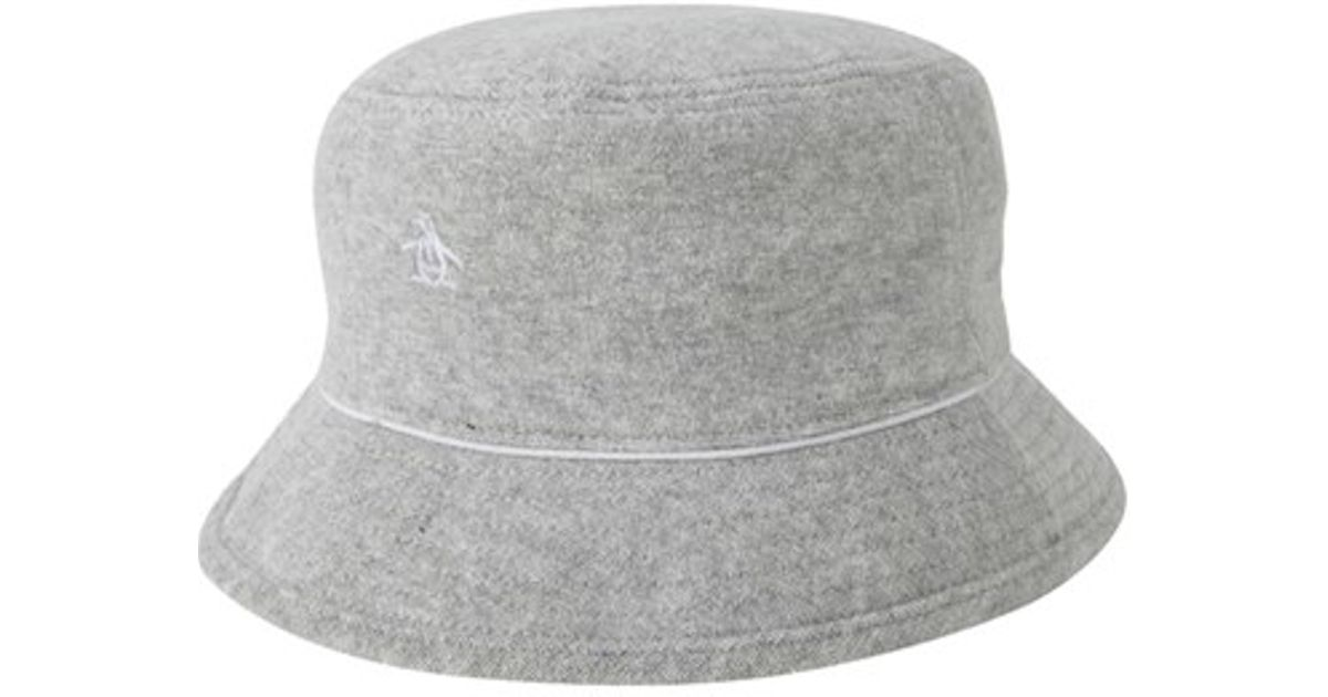 15389d9dc3d4f ... australia lyst original penguin terry cloth bucket hat in gray for men  75f04 66bda