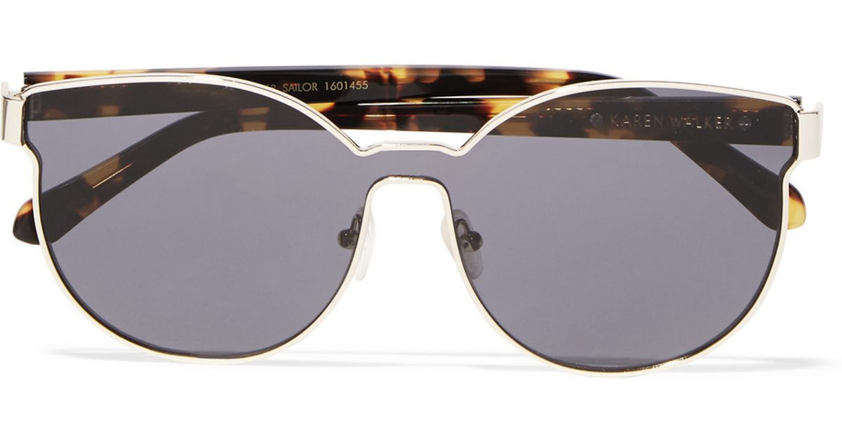 cd2ce96d88bc Karen Walker Star Sailor Square-frame Gold-plated And Acetate Sunglasses in  Brown - Lyst