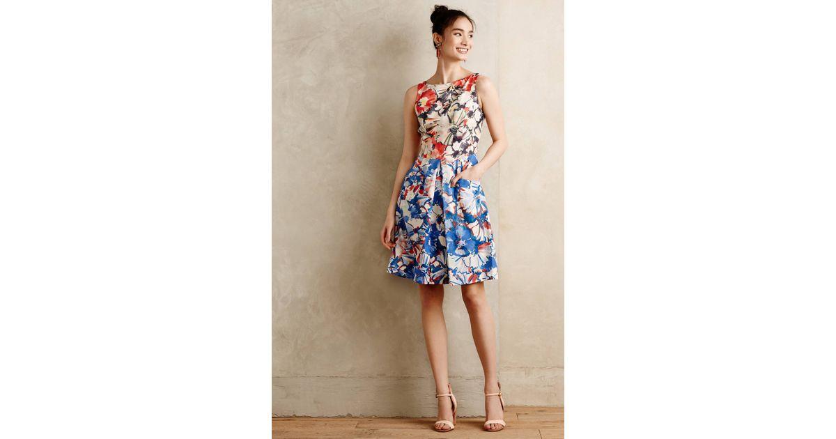 Lyst - Donna morgan Melia Dress in Blue