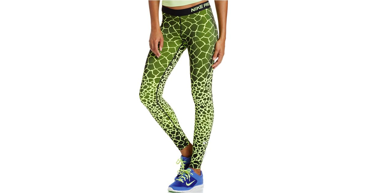 73f717a93e051 Nike Pro Engineered Dri-fit Giraffe-print Leggings in Green - Lyst
