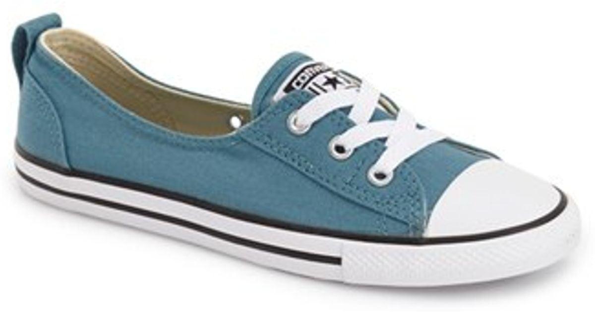 4f8757e6d32e Lyst - Converse Chuck Taylor All Star Ballet Sneaker in Blue