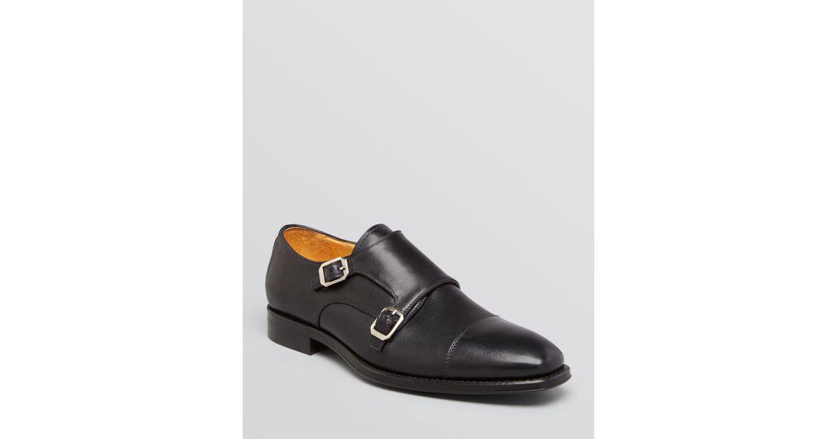 d1bb2a21a9f Lyst - Gordon Rush Copley Double Monkstrap Cap Toe Leather Oxfords in Black  for Men