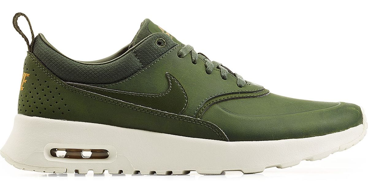 new concept 62a2a 7b0ef ... carbon green 9f518 34219 real lyst nike air max thea premium leather  sneakers green in green 0e118 afbf3 spain nike wmns air max thea premium 616723  304 ...