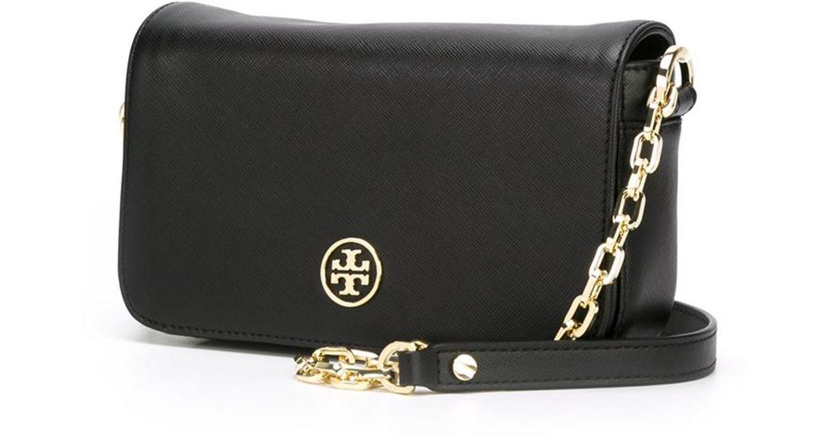 7552261133f Lyst - Tory Burch Mini  Robinson  Crossbody Bag in Black