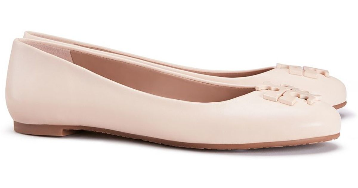 b51316ac3d7 Lyst - Tory Burch Lowell Leather Ballet Flats in Pink best deals on 9413c  3eebf . ...