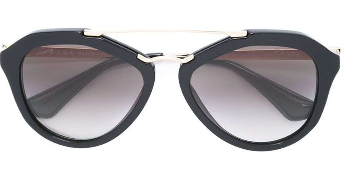 Lyst - Prada D Frame Sunglasses in Black
