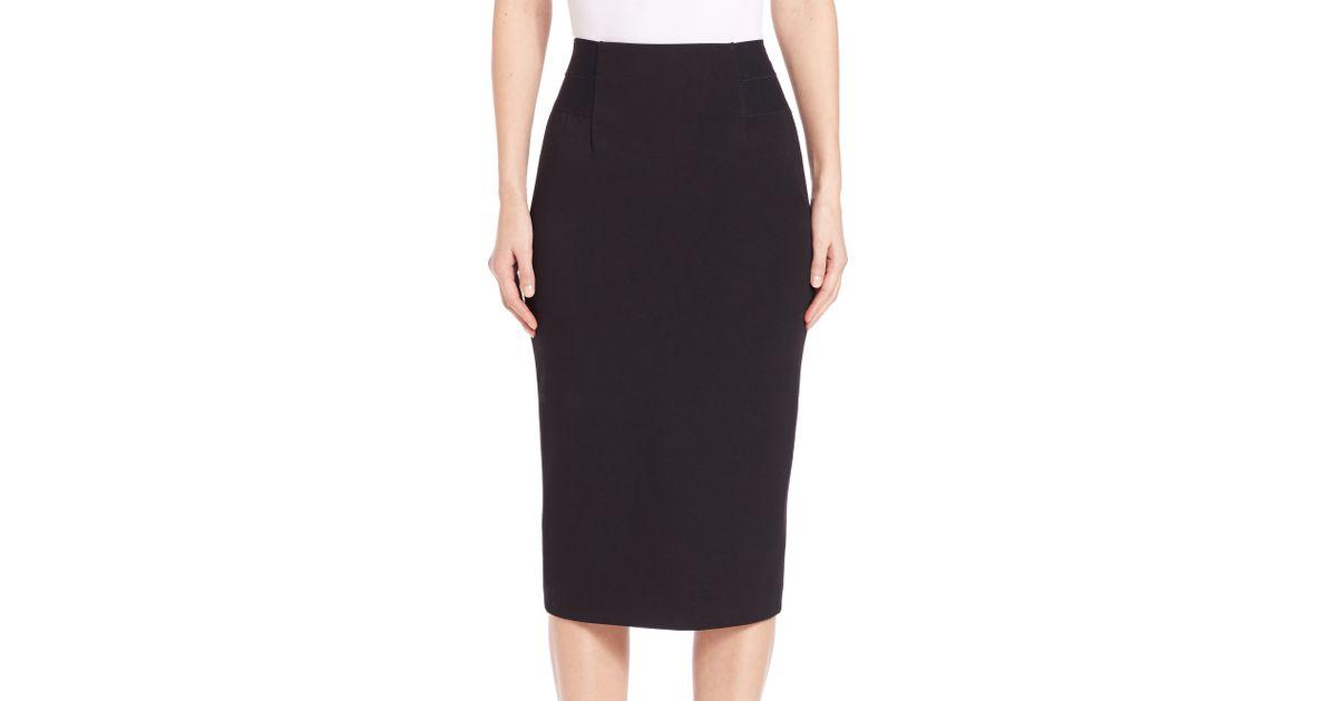 b7c9dd1b37 Diane von Furstenberg Geri Pencil Skirt in Black - Lyst