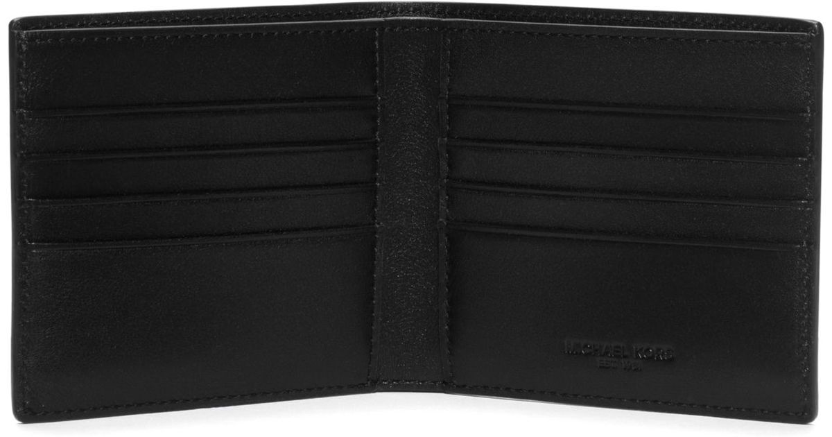 e0b7a3a86f2826 Michael Kors Harrison Color-block Leather Billfold Wallet in Blue for Men -  Lyst