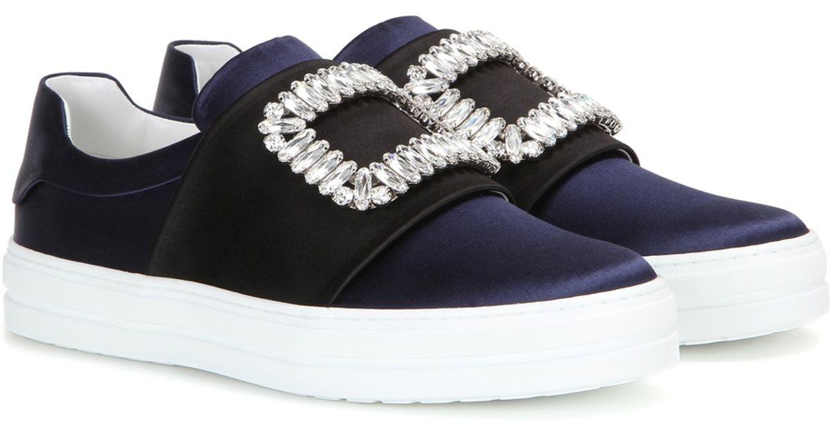 Sneaky Viv embellished satin sneakers Roger Vivier V7qP2fCyp
