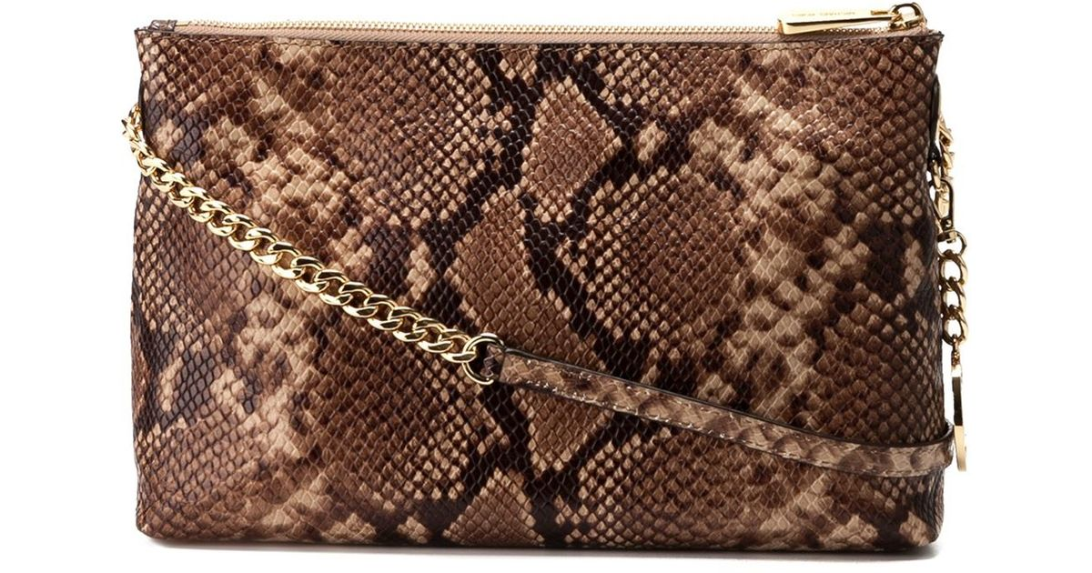 Lyst Michael Michael Kors Snakeskin Effect Crossbody Bag