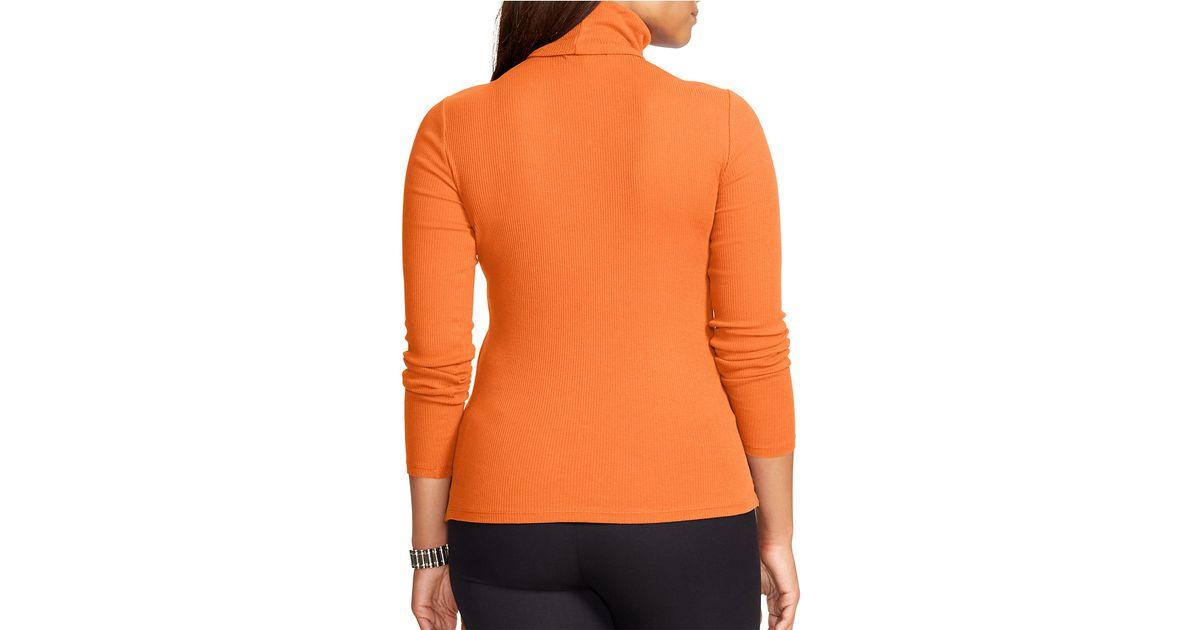 Orange Turtleneck Sweater Womens