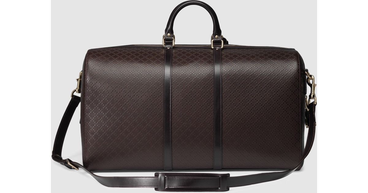 53ac76da851d Gucci Bright Diamante Carry-on Duffle in Brown for Men - Lyst