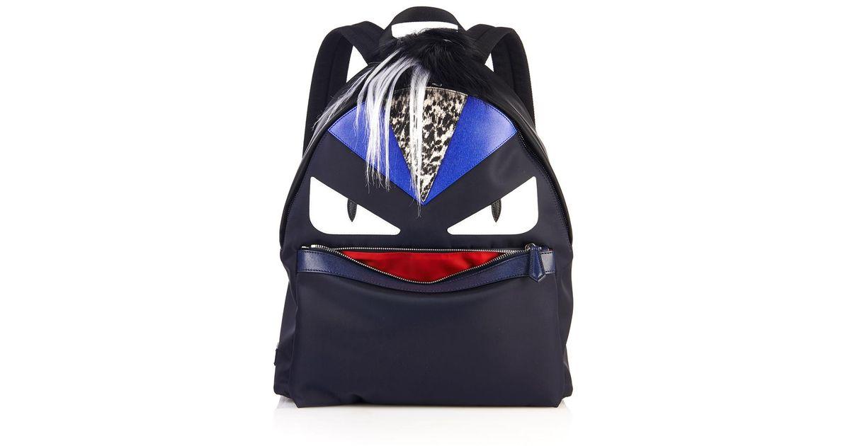 Fendi Monster Backpack Blue