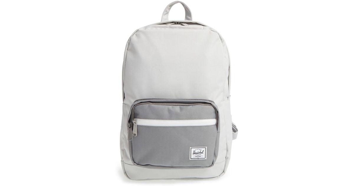 6148757c197 Lyst - Herschel Supply Co.  pop Quiz - Mid Volume  Backpack in Gray