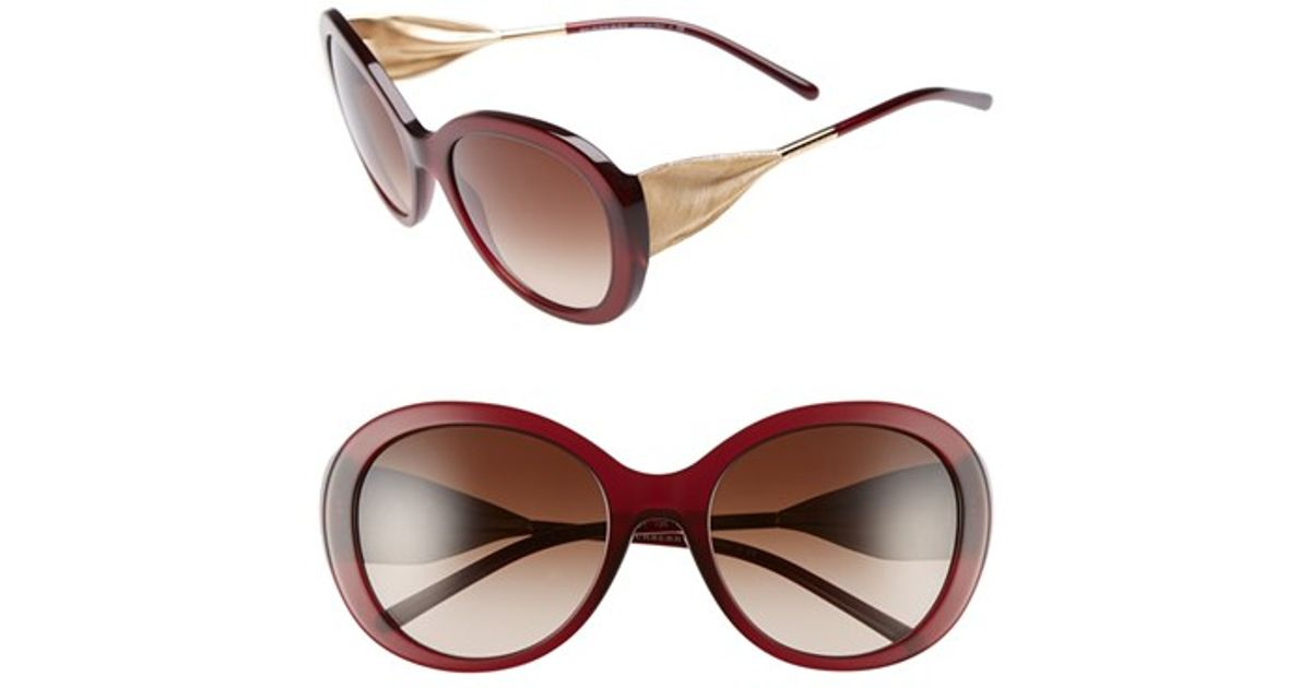 ced7f42b8ad3 Lyst - Burberry  trench Knot  57mm OverBordeaux in Brown