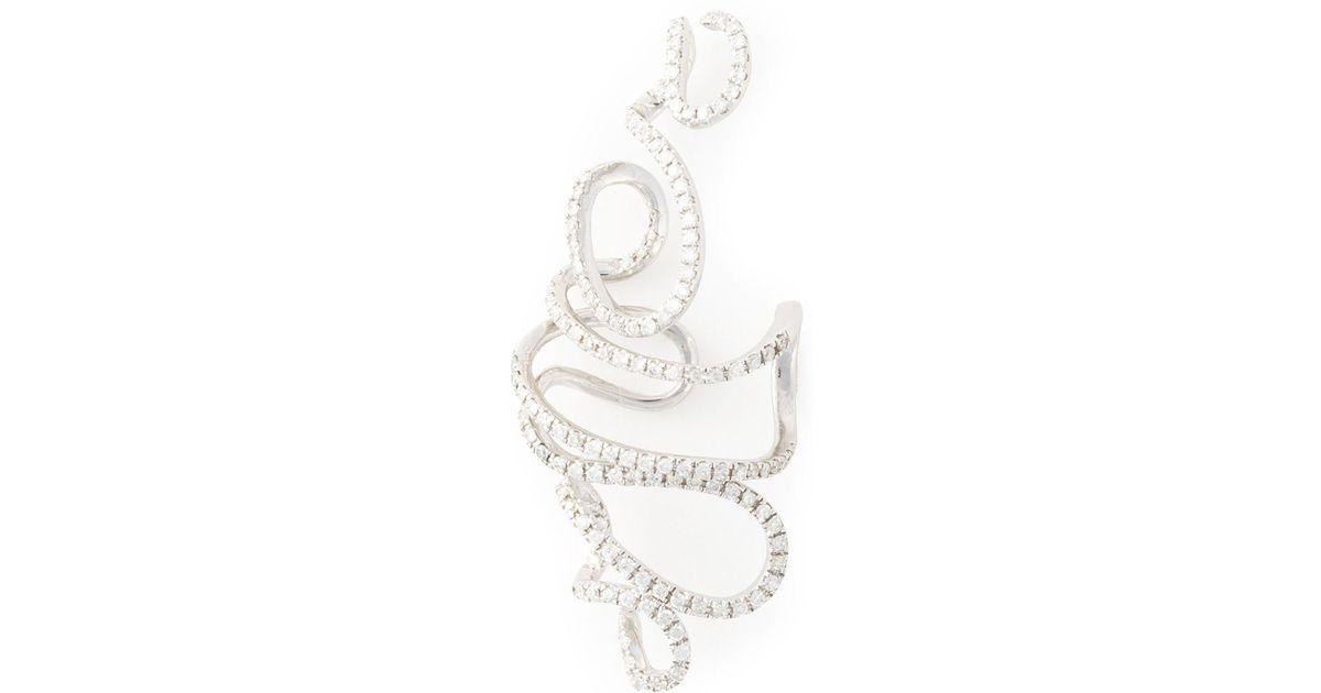 Joëlle Jewellery pavé diamond earring - Metallic hnyQ8R