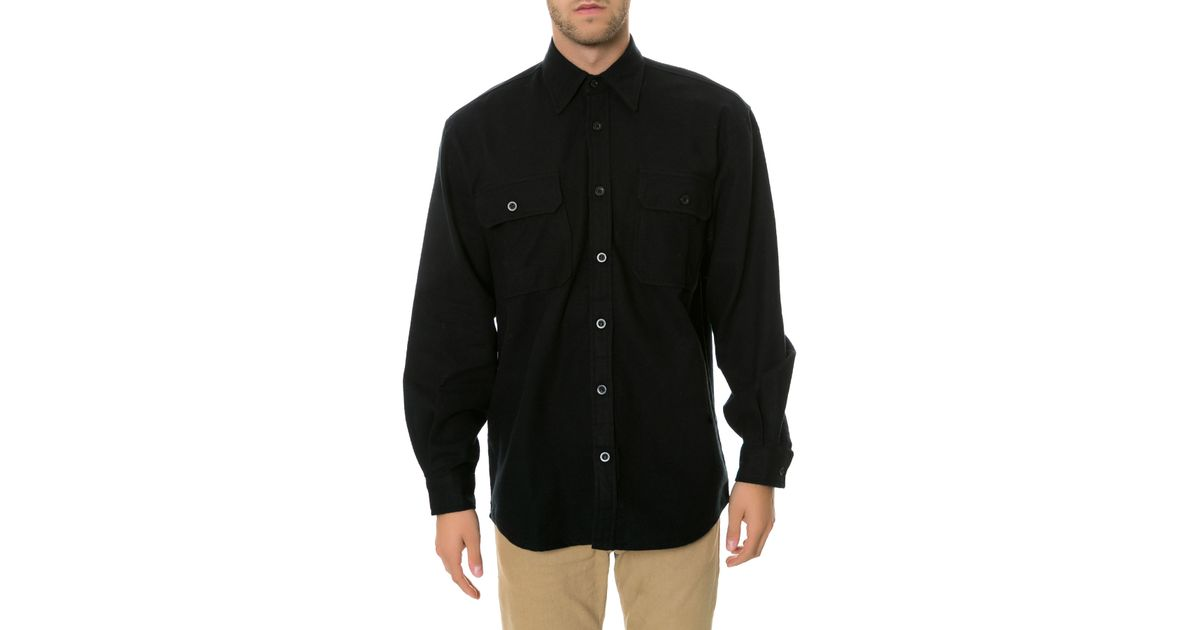 78c8656ccb6 Lyst - Rothco The Heavy Weight Solid Flannel in Black for Men