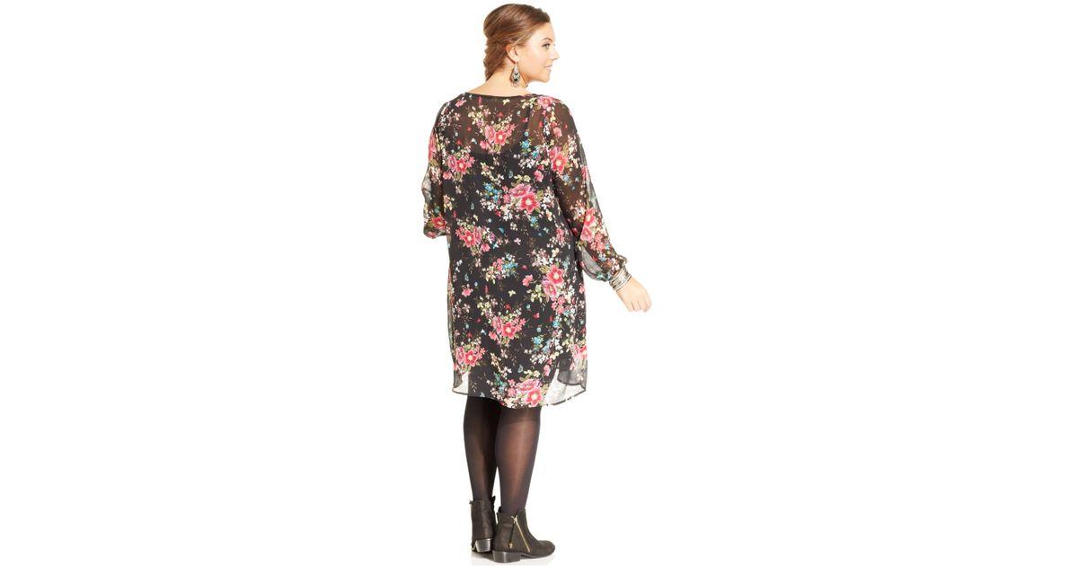 Lyst American Rag Plus Size Floral Print Peasant Dress