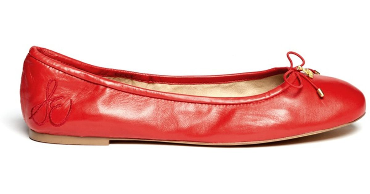 691cfd1abe2f Sam Edelman 'felicia' Leather Ballet Flats in Red - Lyst