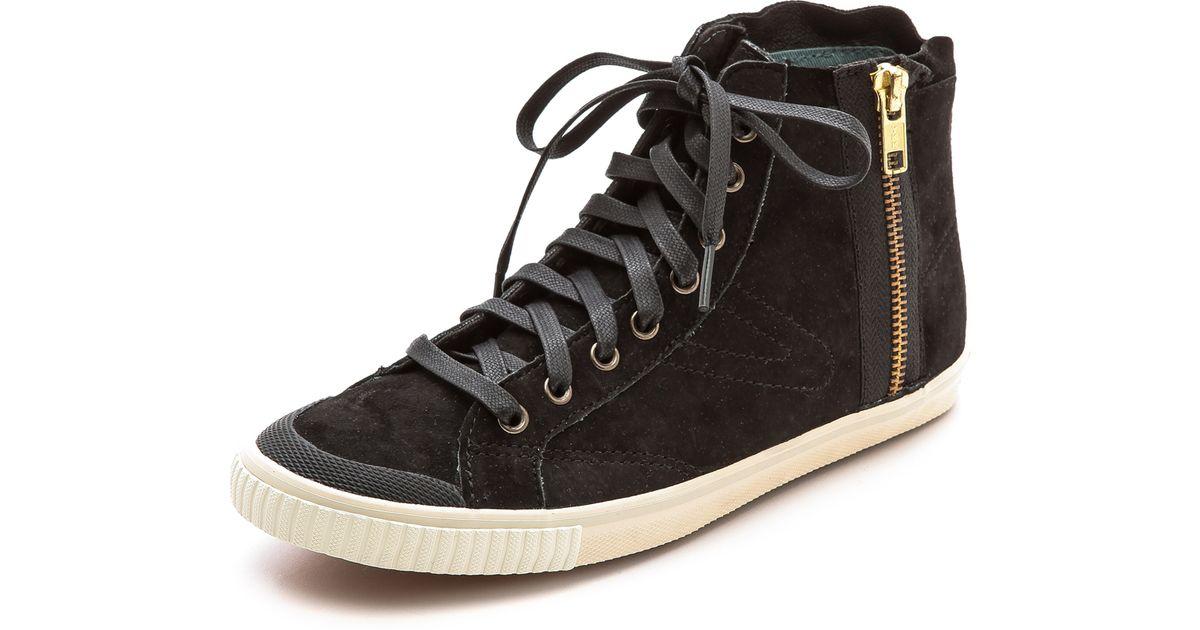 26d2c89094 Lyst - Tretorn Seksti Suede High Top Sneakers in Black