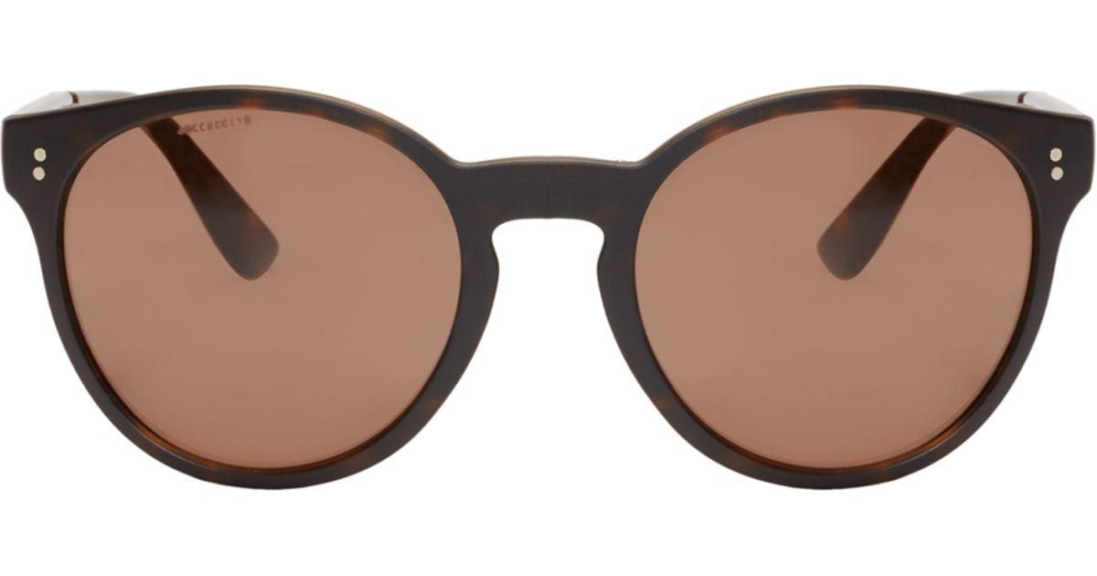 9c71596c6e Lyst - Burberry Tortoiseshell Round Folding Sunglasses in Brown for Men
