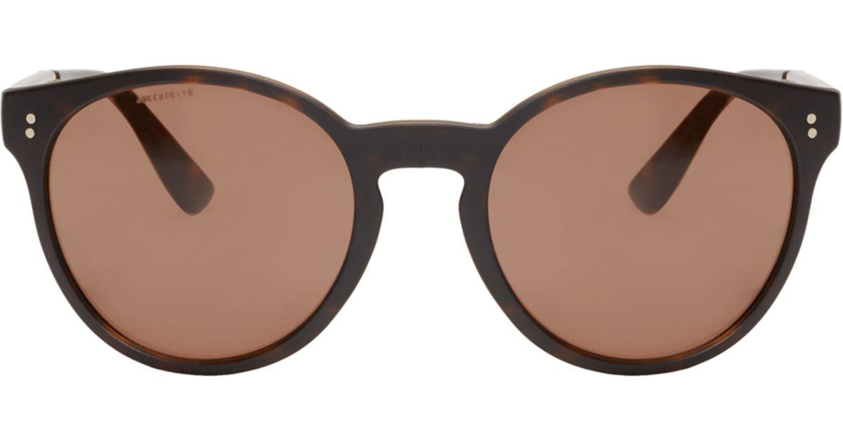 7933c23c47 Lyst - Burberry Tortoiseshell Round Folding Sunglasses in Brown for Men