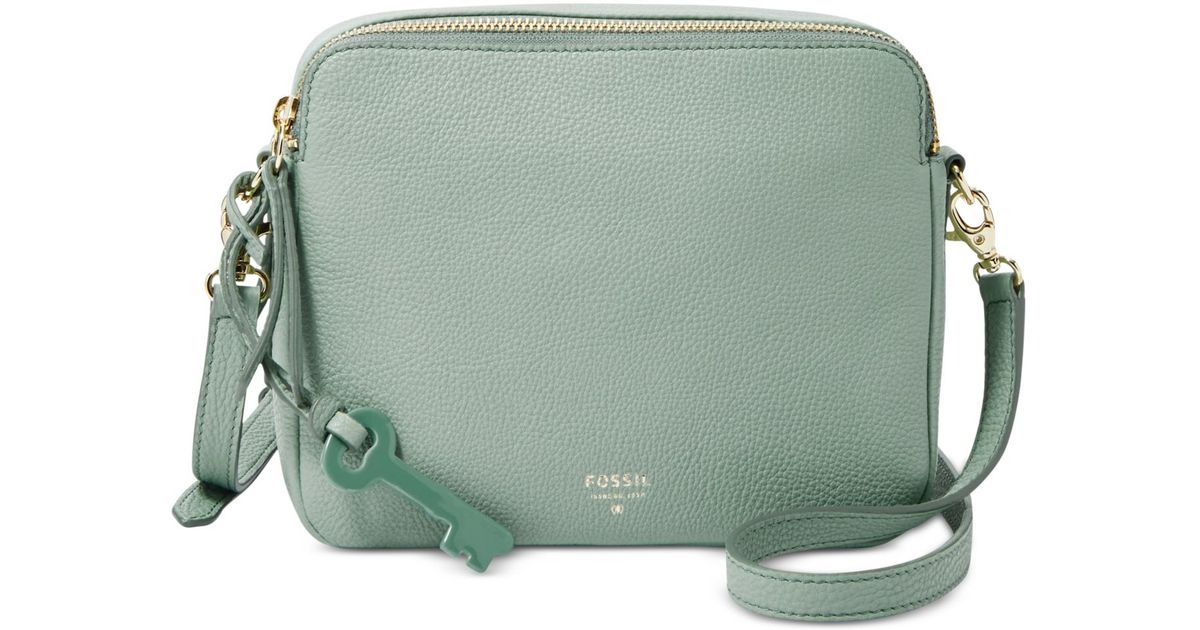 Lyst - Fossil Sydney Leather Crossbody in Blue 902f8520706e7