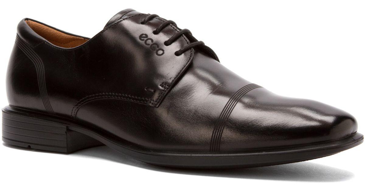 Lyst - Ecco Cairo Cap Toe Tie in Brown for Men 4c9fd3c884b
