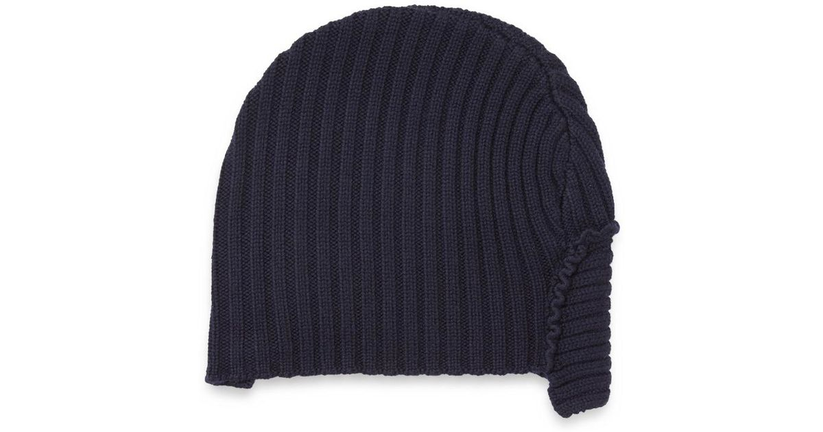 2068417e25d Lyst - JOSEPH Wool Rib Patchwork Hat in Blue