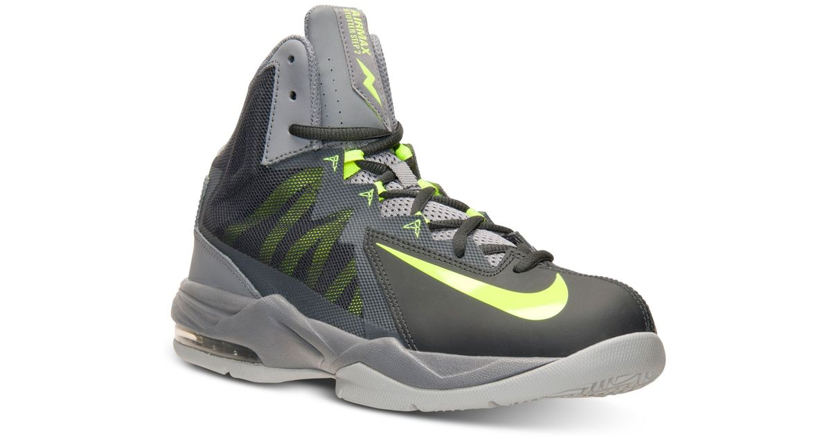 online store 768d9 475d0 ... purchase lyst nike mens air max stutter step 2 basketball sneakers from  finish line in gray