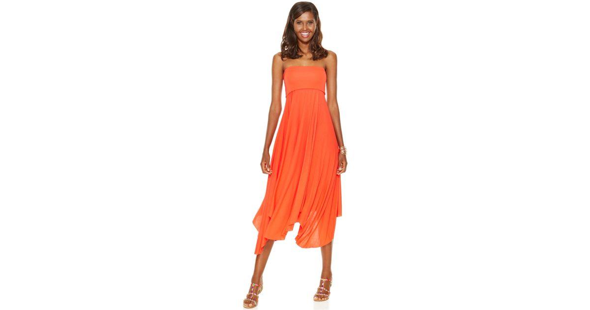 46d0ccbbec INC International Concepts Handkerchief-hem Convertible Maxi Skirt in Red -  Lyst