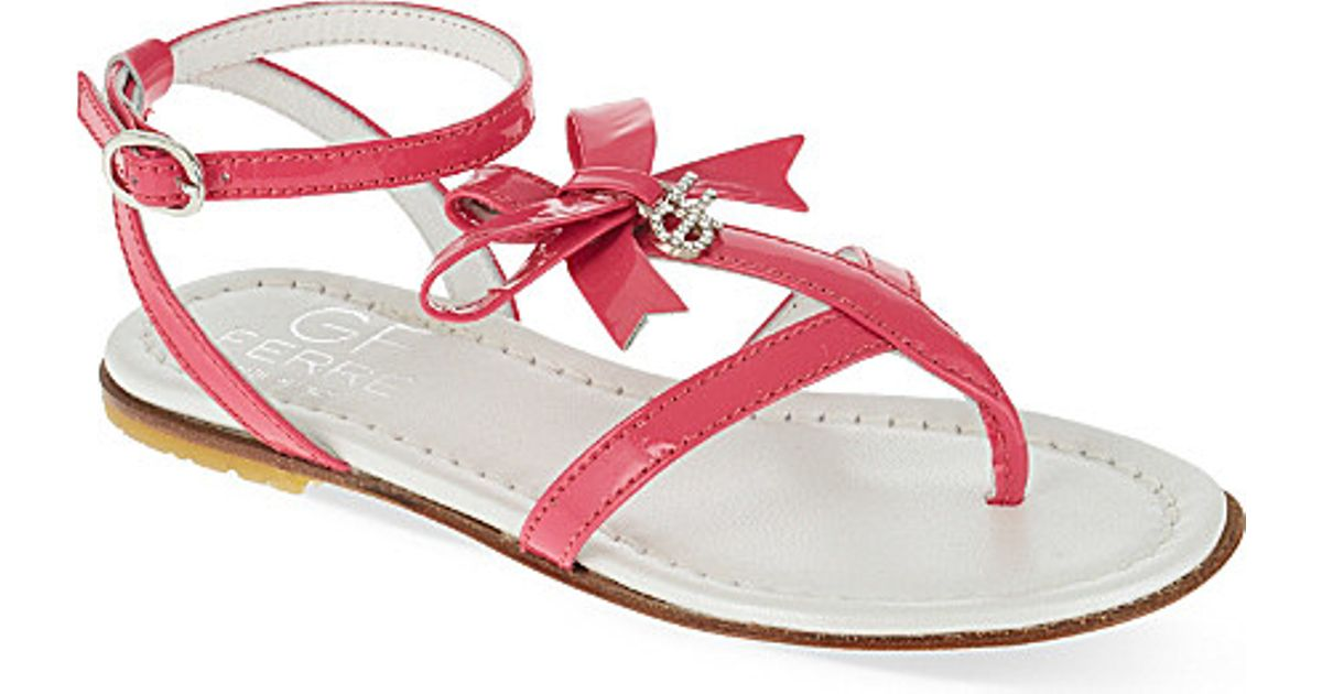 2c92603bc07 Gianfranco Ferré Patent Leather Diamante Thong Sandals in Pink - Lyst